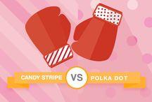 Candy Stripe vs Polka Dots / by Carrier Bag Shop