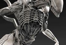 Giger alien sculpture