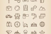 Travel symbols, icons