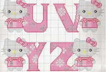 Stitching - alphabets / Alphabets in X-stitch