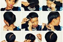 DIY natural hair styles / This will give you step by step on how to do a natural hair style