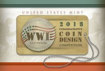 World War I American Veterans Centennial Commemorative Coin Design Competition / Learn all about the competition to select the design for the 2018 #WWI American Veterans Centennial Silver Dollar, a coin commemorating America's involvement in World War I.  / by United States Mint