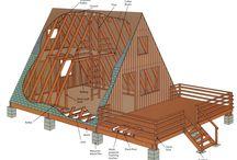A frame cabin Phil