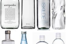 mineral water glass bottles