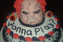 Faces of Terror Cakes / Chucky, Jason, Freddy, they are all here. #chucky #friday-the-13th #halloween #cakecentral