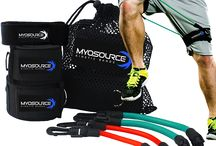 Training Equipment / Training with the Myosource Kinetic Bands products takes sports conditioning and athletic performance to a higher level; run faster, jump higher, get stronger, increase flexibility, improve balance and endurance. Exercise with the Kinetic Bands products to get fit, stay in shape, or burn calories and fat. We can help you reach your sports performance and fitness goals.