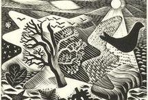 PRINTS linocuts etchings