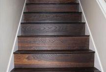 lépcső faburkolattal