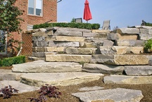 Brick Pavers and Stone Work / DeClark's Landscaping builds idyllic stone patios and walkways.