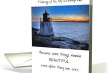 """End-of-Relationship Cards / Greeting cards & related things for relationships that are at the """"end of the road"""". A place to find things for the ex-spouse, ex-partner, ex-girlfriend or ex-boyfriend. This collection will grow with time."""