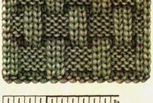 tejido de dos agujas