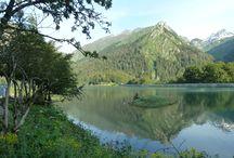 Les Pyrénées : Lacs d'Ayous / Randonnée le 12 juillet 2013 avec la surprise de marcher dans la neige.