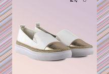 Vicky 21,99€ || Γυναικεία Sneakers Λευκό - Χρυσό
