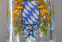 German Glassware and Mugs / German Glassware and Mugs Collection at http://www.ernstlicht.com/4-beer-steins/31-glassware / by Ernst Licht Embroidery and Imports
