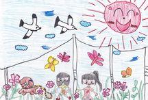 Fukushima Project / 福島のこどもと作る宝石箱プロジェクトにてご応募頂いた絵画作品ギャラリー