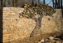 výzdoba  kamenných stěn