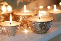 candles, bright lights, ...