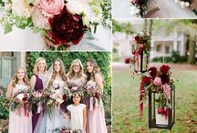 Blush & burgundy wedding theme