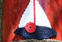Crochet boat