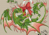 Cross-stitch---Dragons