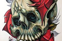 Goth & Skull Art