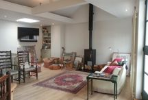 London Mews house design & build project / 1st floor living area  Kitchen, dining and living areas after building worlks