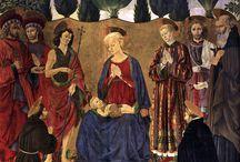 Vroege Renaissance ~ Alessio Baldovinetti / ca. 1425 Florence - 1499 Florence. Maakt ook ontwerpen voor glaswerk, mozaïeken en intarsia.