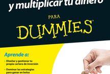"""""""For dummies"""" en la Biblioteca de Económicas / En este tablero vas a conocer los libros de la colección """"For dummies"""" que permite un primer acercamiento a cualquier materia. En esta colección podrás conocer libros sobre tema relacionados con la economía y las finanzas."""