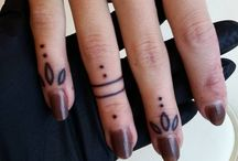 April Mood Board - Finger Tattoos