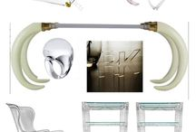 For the chic home /  lucite furniture round-up.