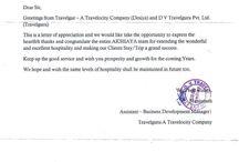 Letter of Appreciation #Appreciation #hotelakshaya