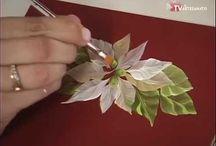 Pintura de flores de natal.