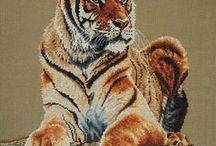borduren tijger