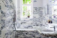 salle de bains marbre + peinture
