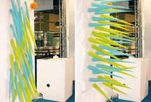 Shower Curtains / Artist Elisabeth Buecher who specialize in textile plants, invented a novel way of saving water in the shower: a shower curtain that gets prickly four minutes after you start bathing.