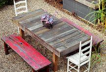 Vieilles tables de ferme