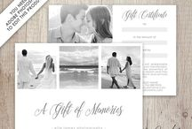Photography Gift Certificate Cards / Layered .PSD templates to create photography gift certificate cards & other gift certificates. These templates are available in my Etsy shop - https://www.etsy.com/shop/DutchLadyDigiDesign?ref=l2-shopheader-name&section_id=20539604