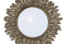 House Envy loves...Mirrors / We love the dulled gold tones of this beautiful Feathers Mirror http://www.house-envy.co.uk/feathers-mirror