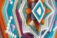 Ojo de dios / Mandala yarn art