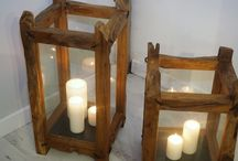 Candle light / Unique candle holders made from reclaimed teak roots. Perfect for table tops and floor stands too. www.rustichouse.co.uk