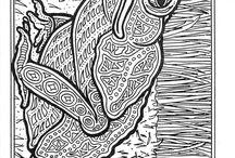 раскраски - лягушки