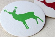 Must Have Holiday Stationery / Letterpress printed Christmas and Holiday stationery, gift tags, coasters and more.