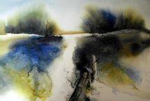 Helga Berger akvarellitaide