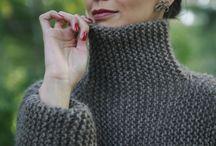 Vest- big knit wrap