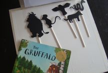 the idea of Gruffalo shadow puppets & theatre