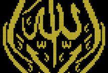 kanevice. İslamic cross stich