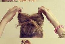 Красивый бантик из волос