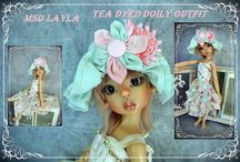 Kaye Wiggs dolls and outfits.