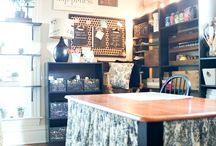 craft room ideas / by Colette Knake