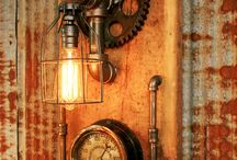 wood light vintage steampunk